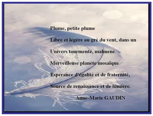 Auteur : Anne-Marie GAUDIN.
