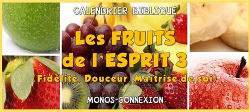 Calendrier Biblique - Les Fruits de l'Esprit (3)