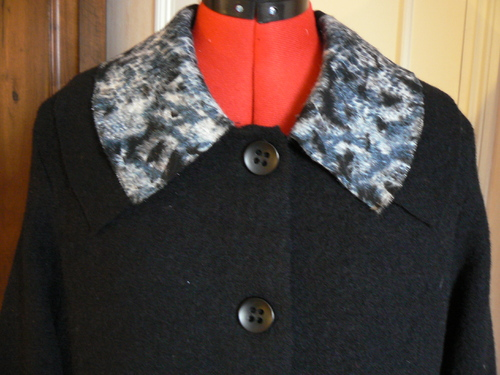 manteau double col