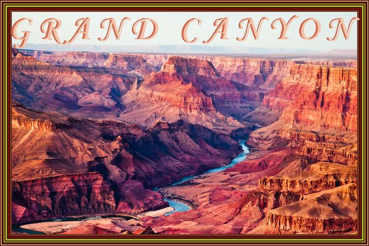 Patrimoine mondial de l'Unesco : Le parc national du Grand Canyon - Etats-Unis -