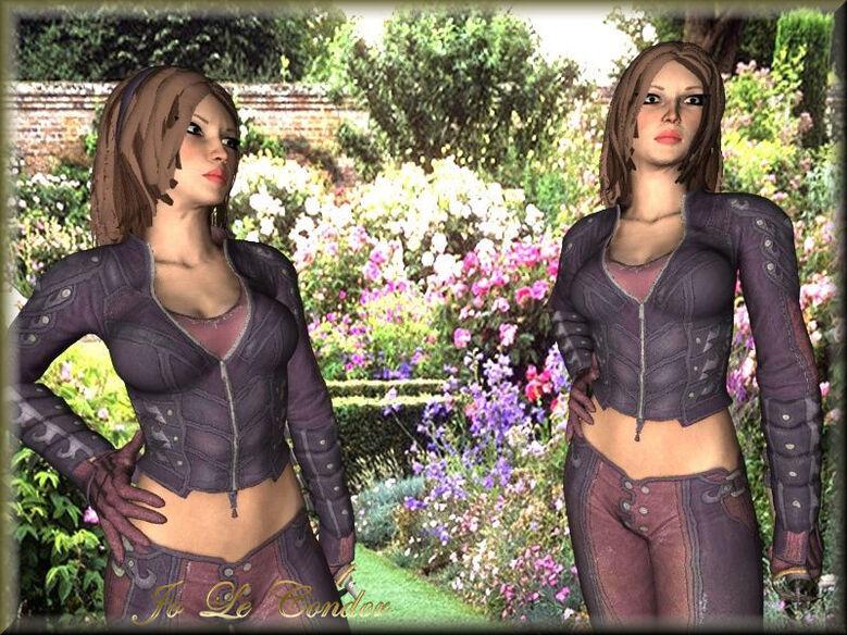 Personnages 3d dans le jardin