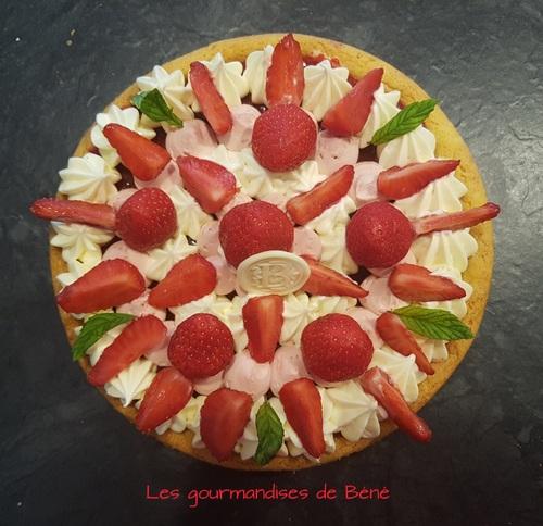 Tarte fraises/menthe