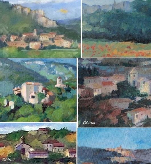 Quelques villages dans mes peintures