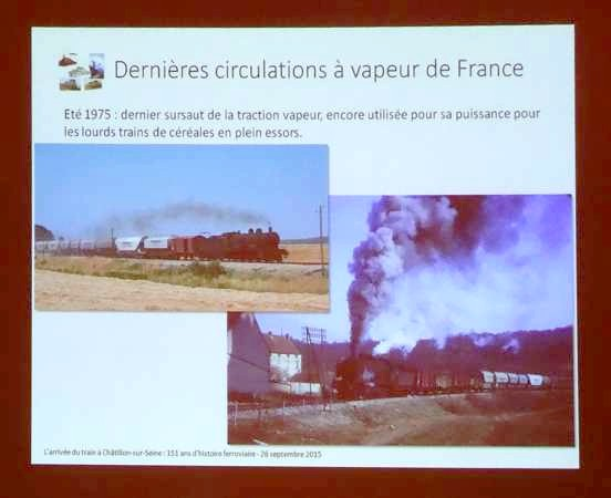 Une conférence fort intéressante sur l'arrivée du train à Châtillon sur Seine