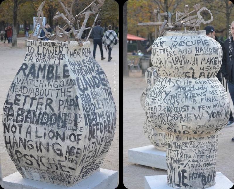Jardin des Tuileries : FIAC 2017 : Sculptures de Jim DINE