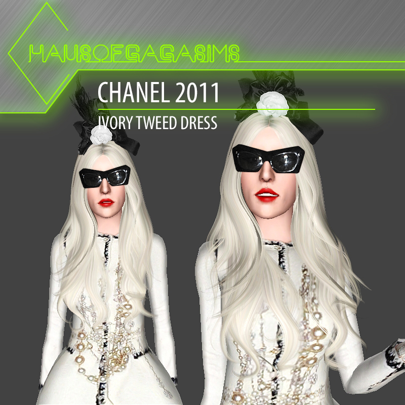Chanel 2011 ivory tweed dress by MarcSims