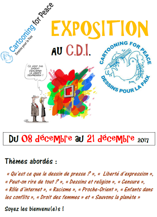 "Exposition ""Cartooning for peace"" Décembre 2017"