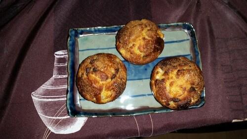 Muffin pépite de chocolat poire