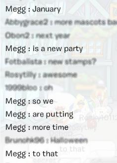 Megg nous révèle encore une fois des informations
