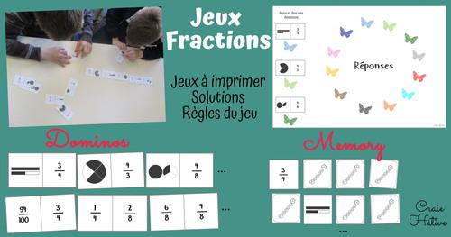Mes jeux pour travailler les fractions sur Beneylu Pssst !!!