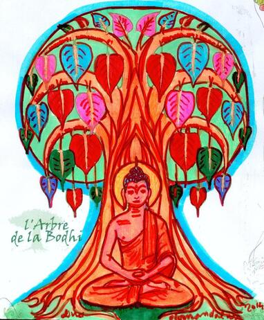 dessin aux feutres arbre de vie jeu Khanel