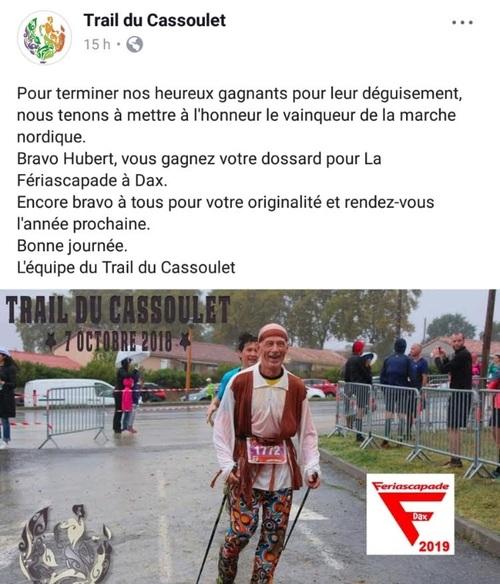 Trail du Cassoulet...