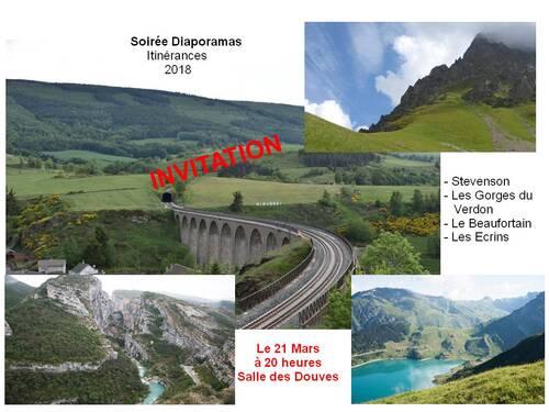 Soirée Diaporamas Itinérances