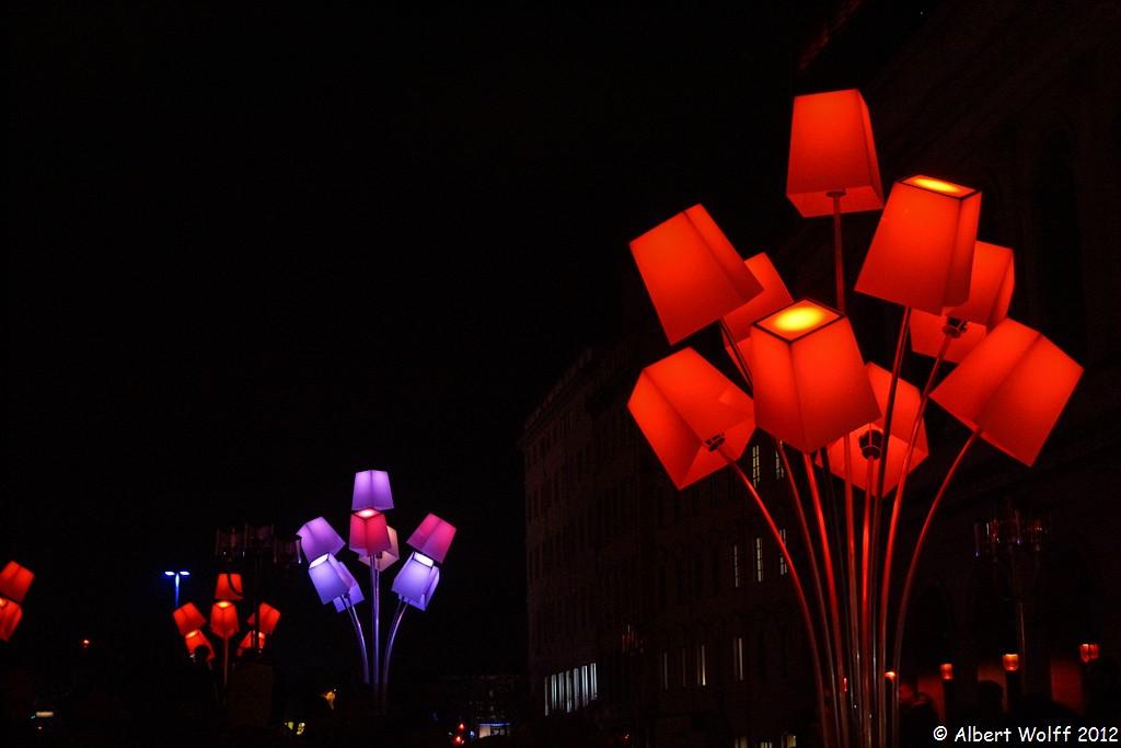 Lyon ou la symphonie des lumières : Place Pradel
