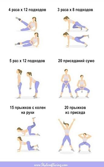 Упражнения от целлюлита на ягодицах картинки