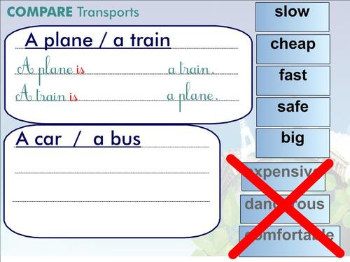 CE2/3 - Let's TRAVEL ... faster !