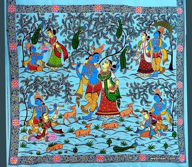 tussar paintings silk