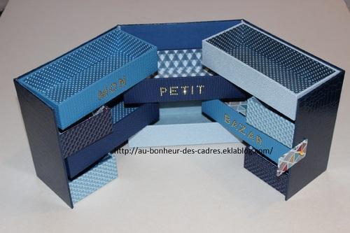 Cartonnage : boite cube