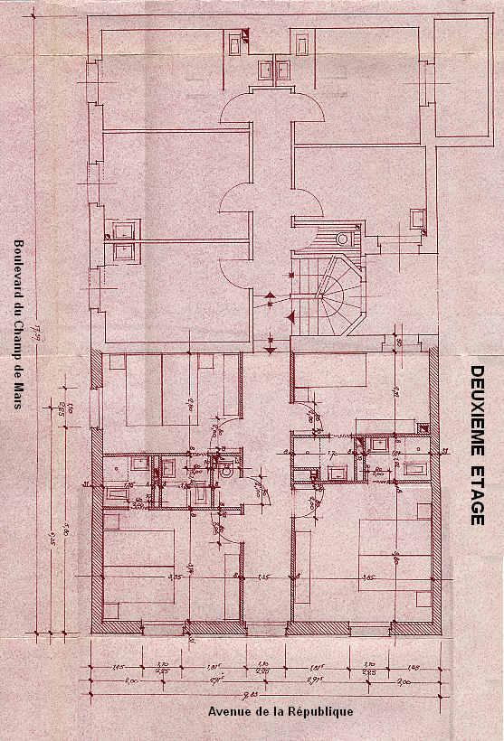 Plan du Deuxième Etage
