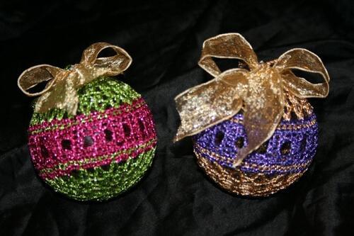 Deux boules de noël