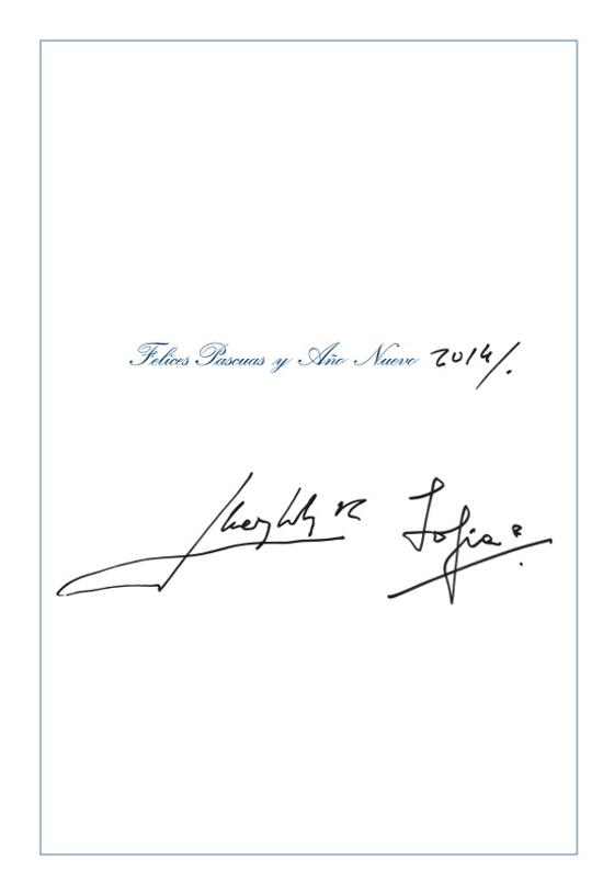 Carte Sofia et Juan Carlos