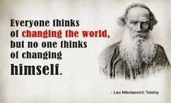Tout le monde pense à changer le Monde.........