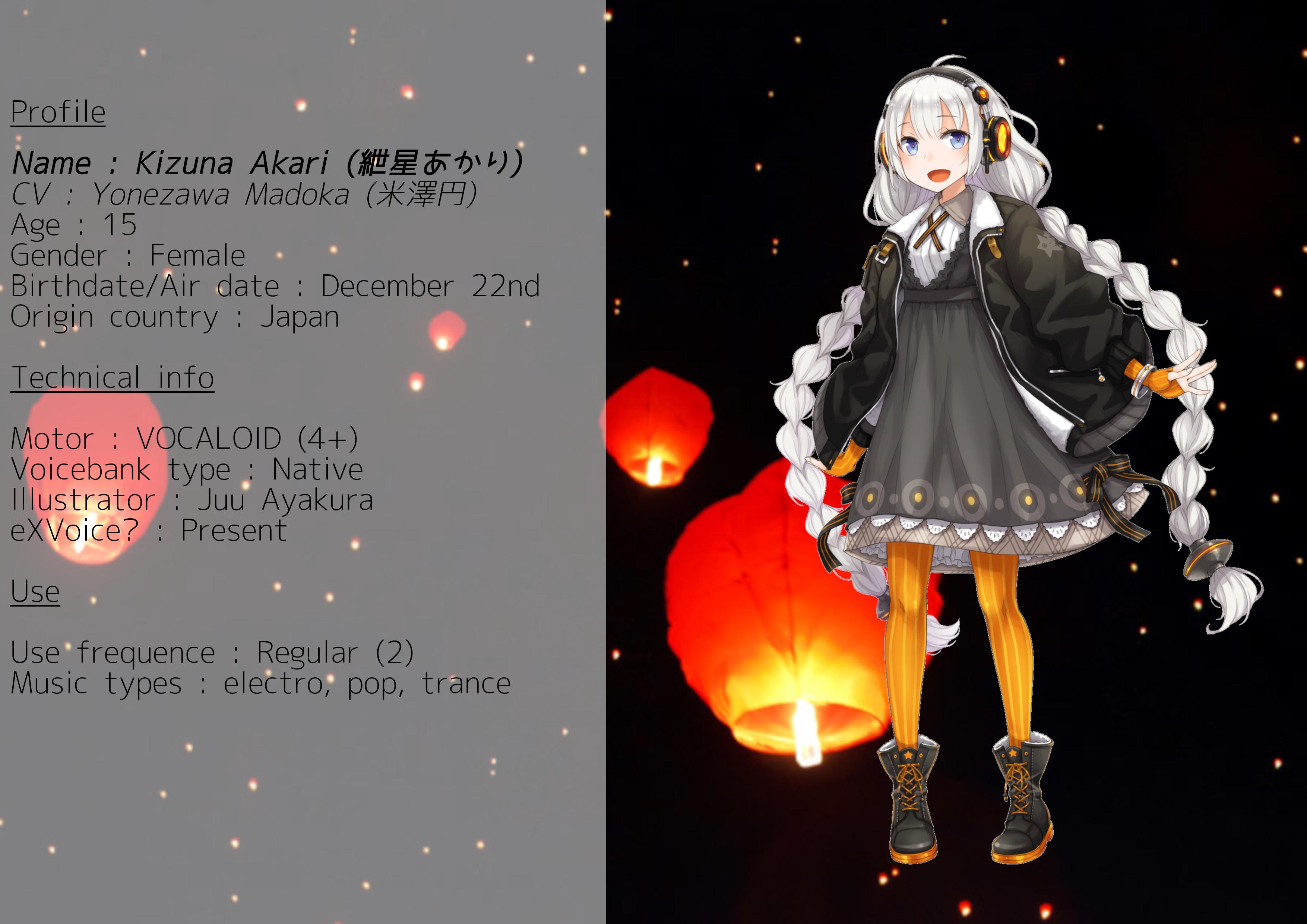 Akari Kizuna / 紲星あかり