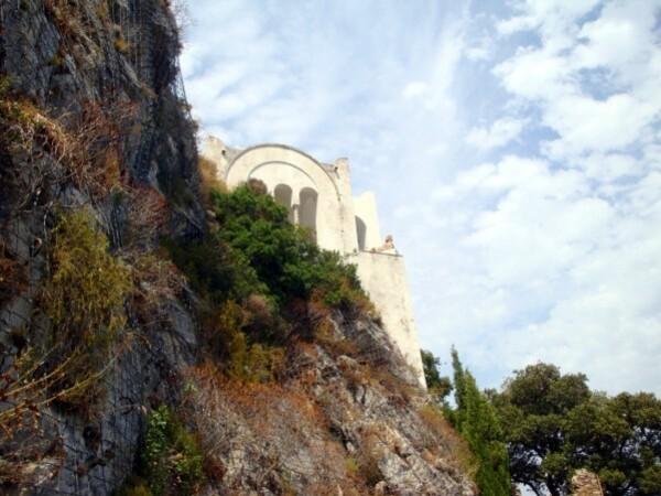 Anacapri, villa san Michele vue d'en bas