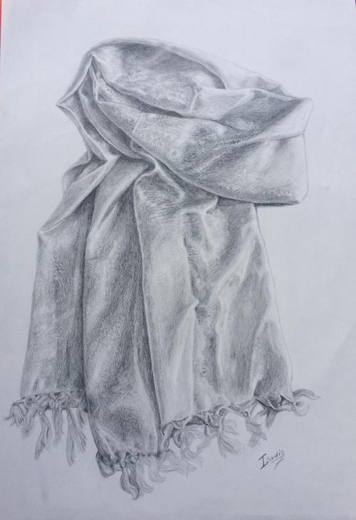 crayonné de drapés