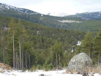 Au fond, la station de ski de Formiguères