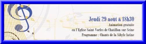 Les animations gratuites de la Semaine de Saint Vorles et du Châtillonnais...