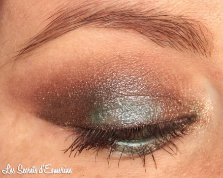 chocolat, pistache, kiko, eye, yeux, maquillage, makeup, marron, vert, color impact, rain smoky shades