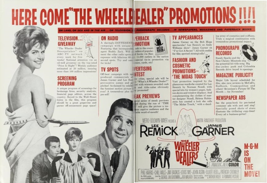 THE WHEELER DEALERS BOX OFFICE USA 1963