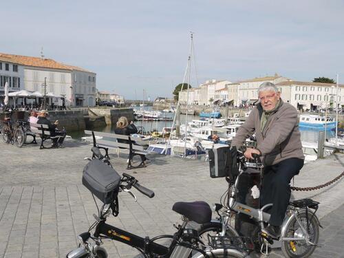 Au port de St Martin en Ré