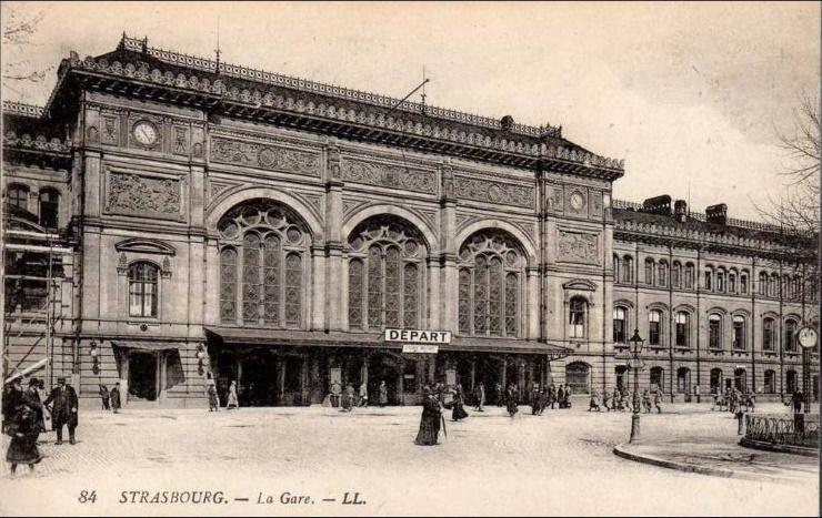La gare de Strasbourg.