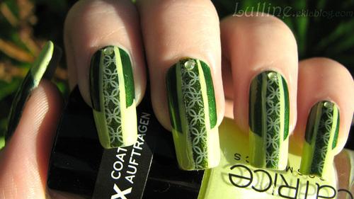 Nail art vert