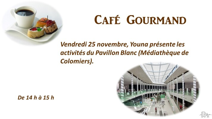 "Café Gourmand : Thème ""Le Pavillon Blanc"""