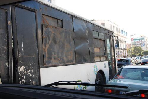Drôle de bus à Kénitra