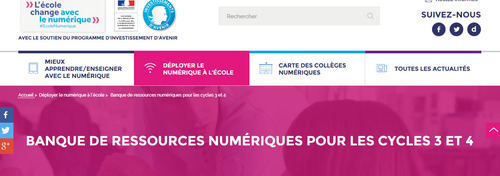 Banque de ressources cycle 3