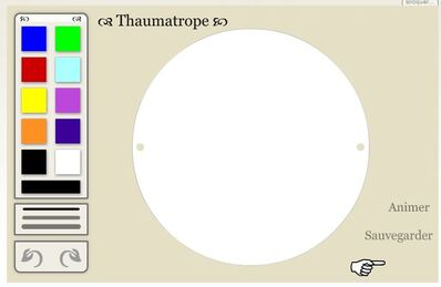 Thaumatrope : application en ligne