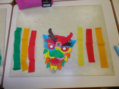 Notre masque de dragon