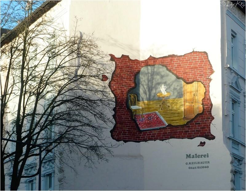 Trompe l'Oeil à Aachen (D) ...