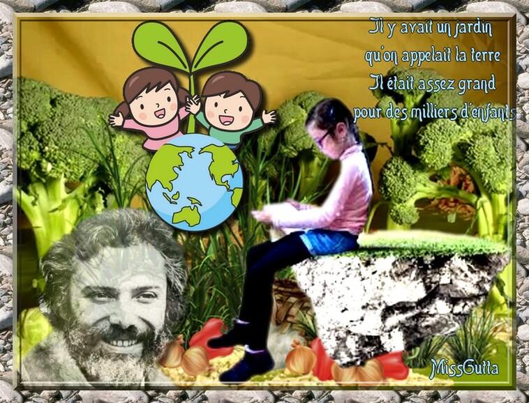 Défi partage ( Il y avait un jardin ) Georges Moustaki