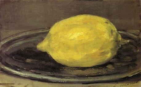 """""""Le Citron"""", par Edouard Manet, circa 1880"""