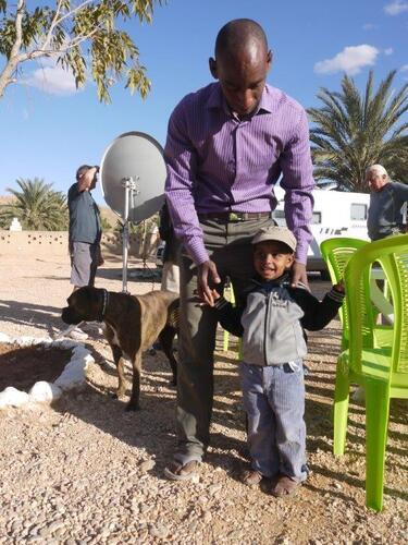 Youssef et son papa