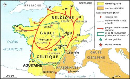 carte guerre des gaules