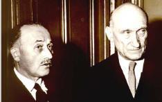 Charles De Gaulle et Jean Monnet