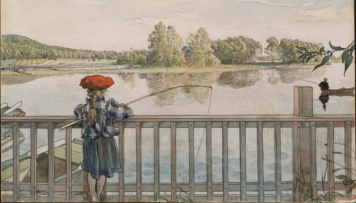Lisbeth à la pêche