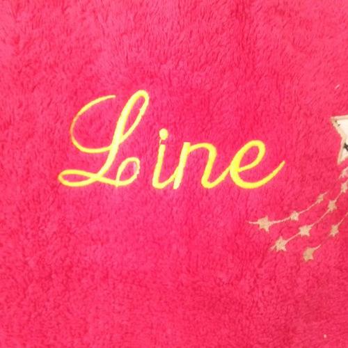 LINE : drap de bain