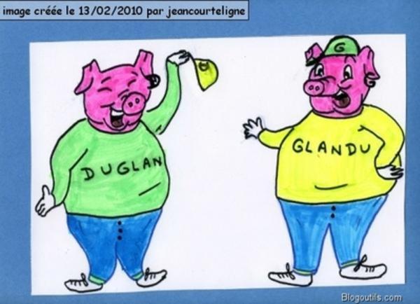 Duglan et la chèvre de poule